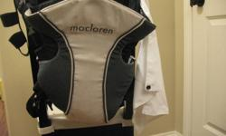 Designed with safety and comfort for parents' piece of mind, Maclaren®'s Baby Carrier features a unique, one-piece design that ensures your baby's weight is not borne by any opening secured with clips, buttons or fasteners that could fail. The ergonomic