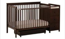 STORKCRAFT MADISON STAGES CRIB $299.99 LIMITED STOCK - REG. PRICE $469.99 - AVAILABLE COLORS:        ESPRESSO (IN STOCK)        CHERRY    (ON DISPLAY)        WHITE       (SPECIAL ORDER)        COGNAC   (SPECIAL ORDER) - NEW IN BOX - FULL 1 YEAR FACTORY