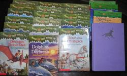Slightly used collection of Magic Tree House books. Missing a couple in the collection. $25 for the entire set or may sell individually for $2