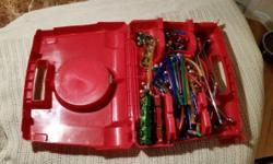 Magnetix Magnetic Building Set...with red carry case and over 100 pcs of various shapes and sizes. $20.00 OBO