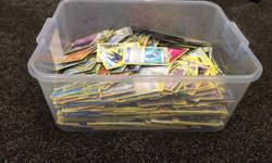 Excellent Condition NO damage 1484 Pokemon Cards DK Pokemon Visual Guide BOOK 3 Large Special Edition Cards 3 Critters Game markers, tokens etc *** we will sell cards individually for $2.00 each *** My home is VERY CLEAN and has ALWAYS been non - smoking