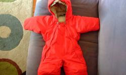 Exceptionally warm snowsuit for your little one Perfect condition. Worn only a few times at the end of the season. Retails for 85. Asking 55. Smoke free home with dogs. We loved this product but our kids were born in the winter so by the time they could