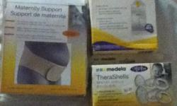 medela maternity support (size small/medium) - 30$ medela pump & save breat milk bags (pump not included) - 10$ medela therashells breast shells - 10$ This ad was posted with the Kijiji Classifieds app.