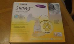 ~ Medela Swing Pump. Excellent condition, works perfectly! Bought 1 year ago for $169, used very little. Can be plugged in or used with batteries. Smoke free home. $60 firm.