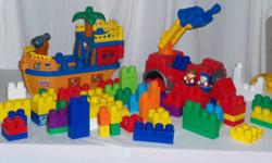 Mega Blocks Boat  and Truck and lots of blocks   $20 for All Great Condition
