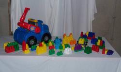 Mega Blocks Truck  with loads of blocks   Like New!   $20 for All