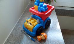 This truck is in excellent condition. The driver and blocks are easily removable. Great for ages 1 to 4!