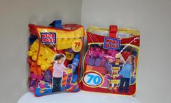 2 70-piece bags Age 1-5 Like new.