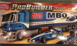 Mega Bloks Probuilder set #9744. It was assembled once then taken apart and put back in the box. It is complete. This set is out of production and hard to find.