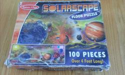 Box lid is fairly trashed but puzzle pieces are in good condition and more importantly, all there. Makes a huge 4 foot floor puzzle - very fun!
