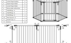 petfree smokefree home... Can be used as a playard, gate enclosure, or barrier, Great for children and pets--Free standing gate forms a hexagonal enclosed play area--Convenient walk through door with childproof double locks for safety, One-hand operation,