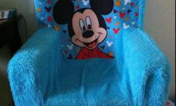 I have a foam Mickey mouse toddler chair for sale. Just washed. Smoke free home. $5   Also for sale is a Fisher Price Musical chair for $10.