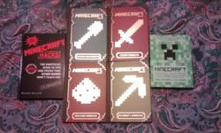 "Set of 4 Mojang Minecraft Handbooks, 1 unofficial guide to Minecraft tips and tricks, and 1 biography of the man behind the game of Minecraft - Markus ""Notch"" Persson. All books in excellent condition."