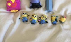 Collection of Minion toys