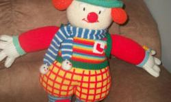 Large Handmade Clown - great condition! $5 Guitar with infrared censor - great condition $5 Piano - good condition plays music or music notes when played $5 Christmas Stuffed animals Bear is large and like new (One of the Christmas Year Bears that are $15