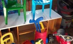 Misc Toys -Golf Set -2 Chairs -2 ride On's -1 Pull along horse $40 for lot *Ad posted for someone*Please no emails - Contact 868-2598 for further info