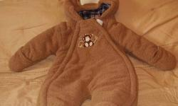 1 Piece                                               Monkey snowsuit                                                    6-9 months                                                  in great condition