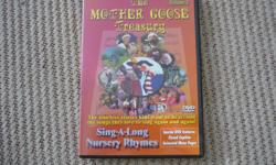 "Mother Goose Treasury, Volume 1 DVD A delightful collection of sing-along tunes including Old King Cole,"" Mary Had a Little Lamb,"" Old Woman in a Basket,"" Peter Piper,"" Tom Thumb,"" Crooked Man,"" Humpty Dumpty,"" Twinkle Twinkle Little Star"" and more. Jewel"