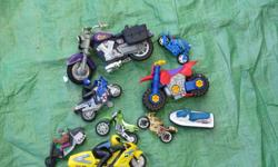 Motorcycle lot 9 Motorcycles for $10