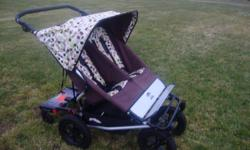 A quality double stroller, along with a toddler step up board. Take three children of various ages out and not struggle.....SO great! This stroller has LOTS of storage, folds flat and is light weight. It offers full sun coverage/bug protection. It glides