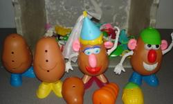 There also is a talking potato head but I cna't seem to get it to work properly.   Lots of extra body parts,pieces and accessories.   All items will remain for sale until sold.  Please only respond if sincerely interested.  You are welcome to set up a