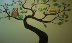 I paint murals in childrens rooms. I also paint custom growth charts, and canvas'. Prices vary on size and detail of product. I also paint windows for Christmas This ad was posted with the Kijiji Classifieds app.