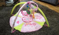 Musical baby play mat. Machine washable. Folds up Easily. Gently used