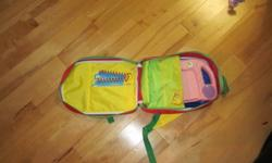 My First Leap Pad Learning System -PINK, barely used, comes with two games and flip books, (Leap's Big Day and I Know My ABC's) and backpack. Asking $15.00 obo