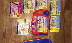 Educational. Books are for ages 3 and up. Included: My First LeapPad Learning System Leap Pad Back Pack 10 educational books and cartridges (2 of the books are French/FRANCAIS) In perfect working condition. Like new condition. I am also selling the next