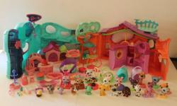 I have 3 My Littlest Pet Shop Play Centres, plus accesories & pets. All in great shape just waiting for right little girl to play with. This lot comes with 3 centres, 21 pets & 25 accessory pieces.  Thanks Wendy