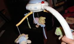 $15 Fisher Price Nature Bearries Butterfly Dreams Projection Mobile * In Excellent Used Condition *Turn your baby's nursery into a natural, soothing environment. *Intrigue your little one with a dancing light pattern of butterflies and leaves that