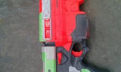 I'm selling my nerf gun. It works just needs nerf disc's.