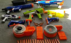 Make me an offer. A lot of fun. Nerf Guns -- one price takes all -- great condition. Email, call or sms. Will not sell separate. All guns work.