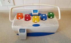 """Neurosmith Music Blocks with two cartridges: Bravo Opera and Mary Poppins. When it comes to """"building"""" musical creativity, nothing tops Neurosmith's Music Blocks! The premise is simply brilliant: as toddlers rearrange the electronic blocks, they're"""