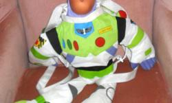 new, never used....though over 10years old. be the only one to have one cause they are not in stores :) large Buzz Lightyear toy that is also a knapsack. really just what any Toy Story would love this christmas. located in Kemptville. delivery available