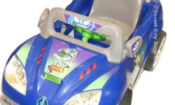 Buzz Lightyear® Kids Cars  Officially licensed Disney Pixar Toy Story Kids Cars   Fisher Price Power Wheels Cars at surplus prices!     Features   1 Forward and 1 reverse speed with a top speed of 2.5 MPH Fold out side mirrors 6 Volt rechargeable battery