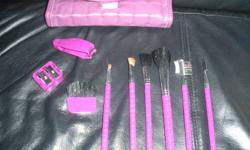 I have a NEW Make-Up Set. None of these items have ever been used. All these brushes etc. come with it's own little Make-Up Bag. Would make such a great gift. I've just had it sitting around and never used it, so I thought it would time to let someone