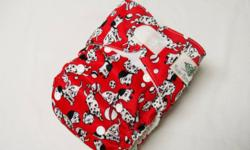Brand new Rocket Bottoms brand pocket cloth diapers.  Excellent quality. These are one size and fit aprox. 8-35lbs, no separate cover required. Each comes with a highly absorbent zorb trifold insert. These diapers have an athletic fabric wicking material