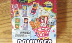 I have a New Shopkins Dominoes or sale. This is in excellent condition and would look great in your child're room or to give as a gift. Comes from a non-smoking household. Do not miss out on this excellent opportunity to get this for a fraction of the