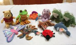 Ty and Ganz new stuffies. From a smoke and pet free home. $1 each or $6 for all eleven bean bag soft toys.