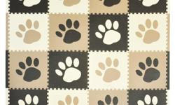 NEW Tadpoles Playmat Set 16-Piece Pawprint, Brown. Never used! Using soft playful foam Tadpoles Pawprint Playmat Set provides a fun safe environment for your little one. Made of 12-Inch x12-Inch interlocking foam pieces the mats create a soft base for