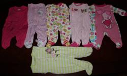 I have a box of newborn baby clothes for sale.  Asking $30.00 O.B.O for all of the items.  Includes: - Kushies velcro swaddler - 6 long sleeve sleepers - 7 short sleeve onesies - 3 long sleeve onsies - 1 Panda pyjama set - 5 pairs of pants - 1 over-all