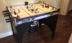 """Great hockey table. Hours of family fun. 49"""" L 30"""" W 36"""" H."""