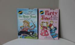 Grades 1-3 Up to 50 words per page. Titles * Party Time * The Magic Wand Printed in Canada. Like new.