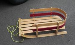 Would cost you 90 dollars new (80 plus tax) http://www.canadiantire.ca/en/pdp/jab-deluxe-wood-baby-sleigh-0825015p.html#.Vxle9WO0gk4 In excellent condition. Why buy new when you can pay half and get the same product...