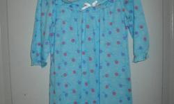 Girls blue nightie with red and purple flower pattern. Slippers included. 18 month size. New and never worn. Look at my other poster's ads.