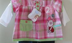NWT Disney Piglet outfit 3 mo. Jeans and a shirt. Clean smoke free home. Pick up only in south east corner of the city.
