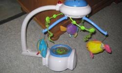Works great but no water left in the lower bubble. Still makes sounds and moves with lights. E mail if interested.