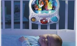 If you see Ad we still have it The aquarium is manufactured for infants up through toddler years; it requires three batteries in size D to operate and is made of durable plastic in 13-1/4 l x 11h x4-1/2 w. This aquarium is guaranteed to thrill and excite