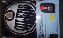 Oilers car seat cover in packaging. Paid 19.99 for it. View my ads for more items